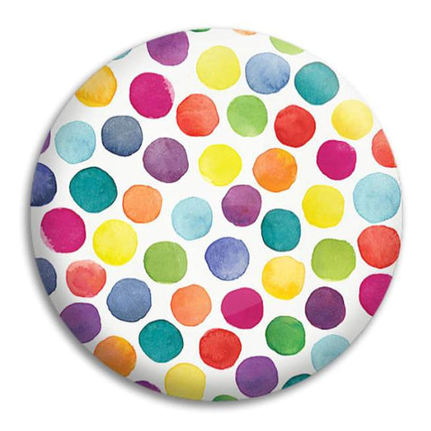 Watercolour Dots Button Badge