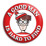 Where'S Wally A Good Man Button Badge