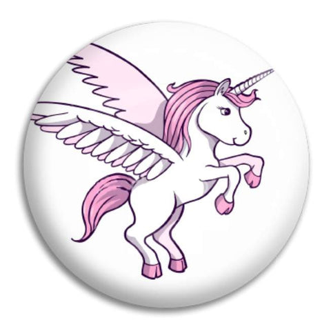 Winged Unicorn Button Badge