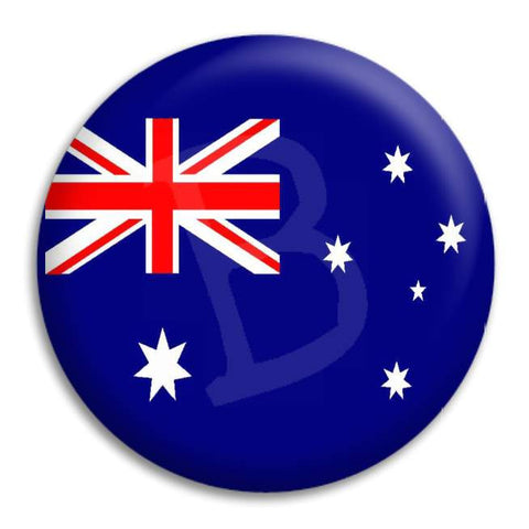 Australian Flag Button Badge