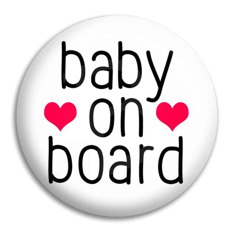 Baby On Board Button Badge