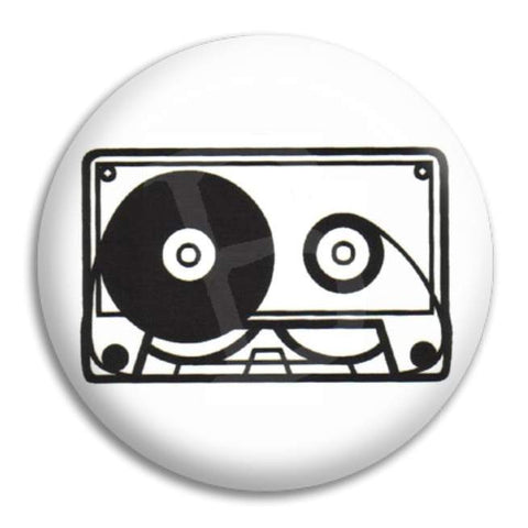 Cassette Button Badge