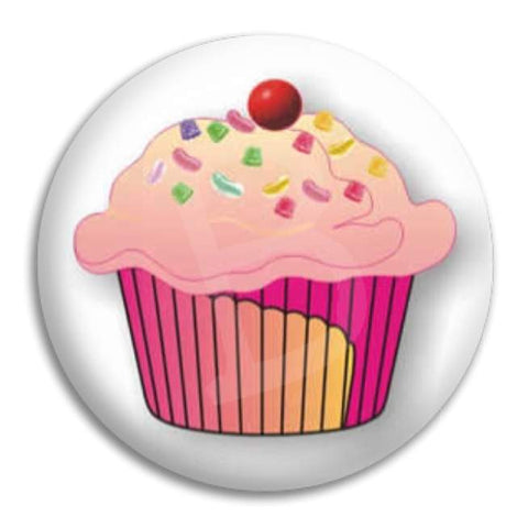 Cupcake Button Badge