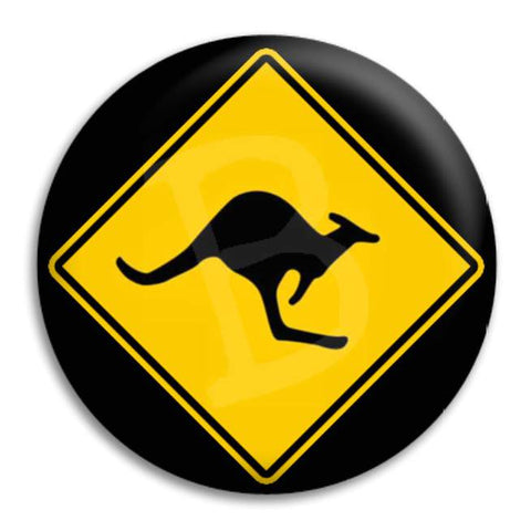 Kangaroo_Sign Button Badge