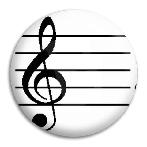 Treble Clef Button Badge
