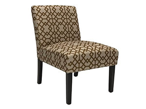 ViscoLogic Ashely Contemporary Pattern Fabric Upholstered Wooden Accent Chair with Thick padded Backrest and Seat (Persia, 1)