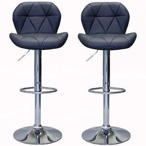 ViscoLogic DREAM Swivel Leatherette Adjustable Hydraulic Bar Stools Set of 2