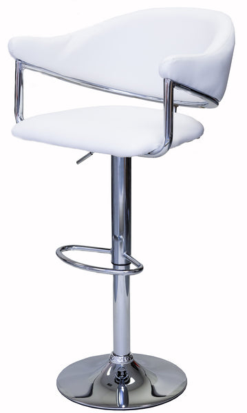 ViscoLogic AIRSTREAM Adjustable Height Swivel Bar Stool with Cushion (Set of 2 Stools)