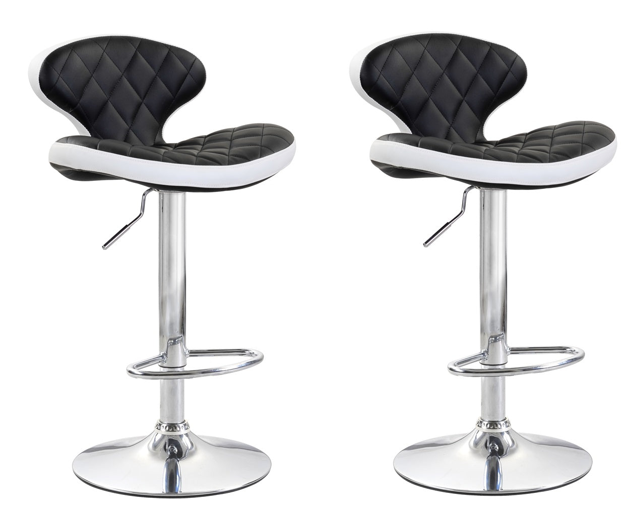 ViscoLogic MYSTIQUE Adjustable Height Swivel Bar Stools Saddle Style (Set of 2 Stools)