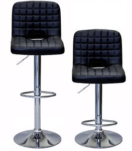 ViscoLogic MONOCO Swivel Leatherette Adjustable Hydraulic Bar Stools (Set of 2 Stools)