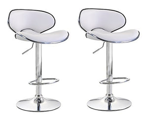 ViscoLogic OASIS Swivel Leatherette Adjustable Hydraulic Bar Stool (Set of 2)
