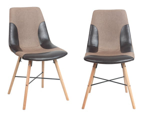 ViscoLogic LUXUS Dining Chairs (2, Denim Brown)