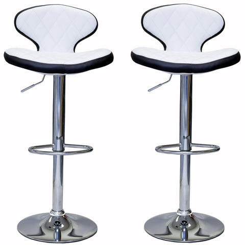 ViscoLogic MYSTIQUE Adjustable Height Swivel Bar Stools Saddle Style