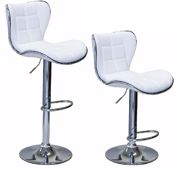 ViscoLogic DUKE 23 to 34 inch Height Adjustable Bar Stool (Set of 2 stools)