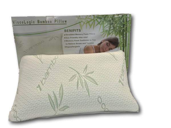 ViscoLogic Luxury Shredded Memory Foam Pillow (Single Pillow)