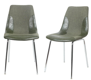 ViscoLogic LUXUS Dining Chairs (2, Denim Green)