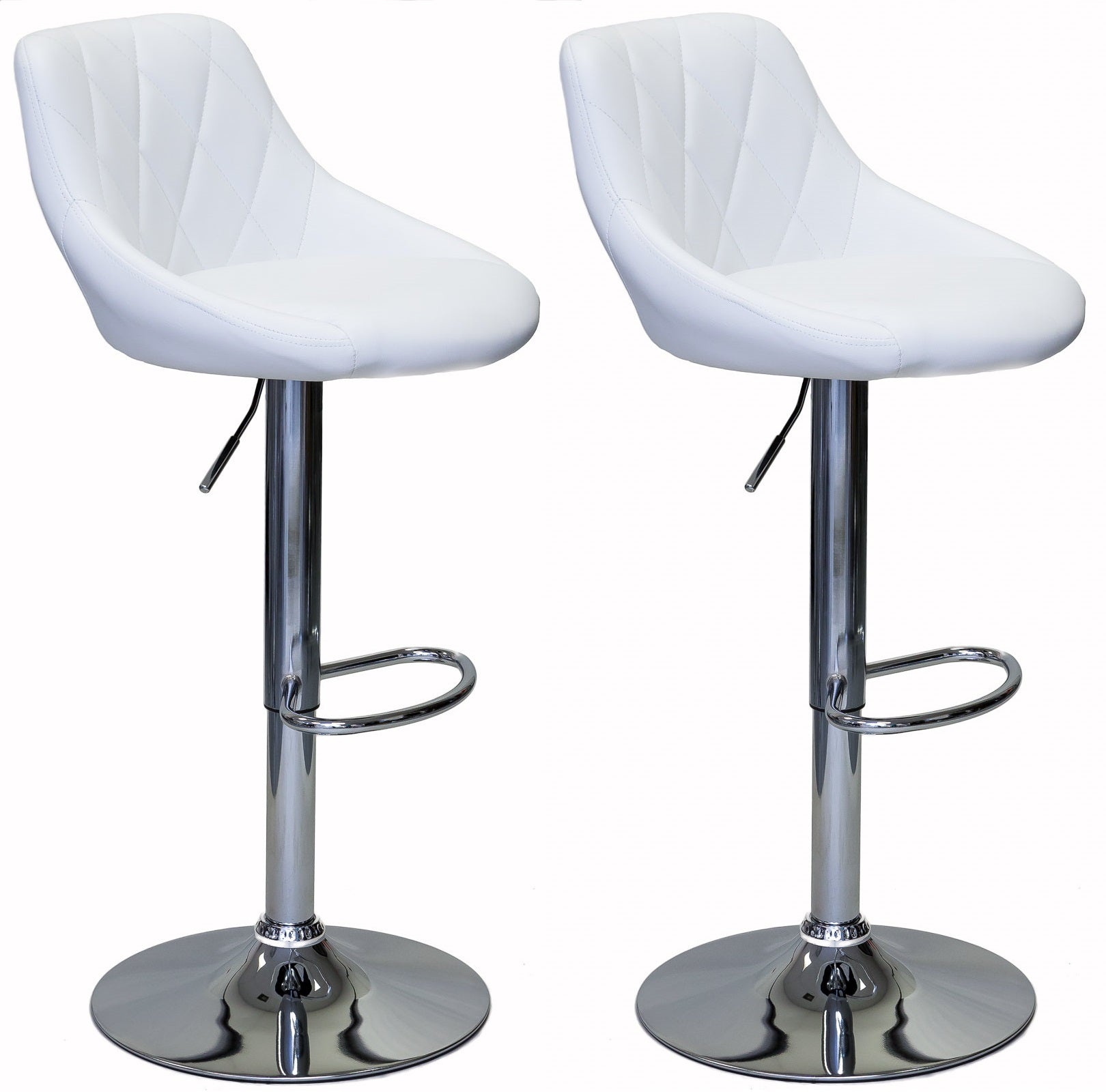 ViscoLogic Series GALLANT Height Adjustable Swivel 24 to 33 inch Bar Stool (Set of 2)