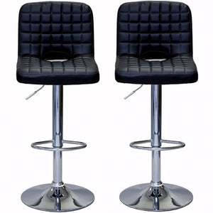 ViscoLogic MONOCO Swivel Leatherette Adjustable Hydraulic Bar Stools Set of 2