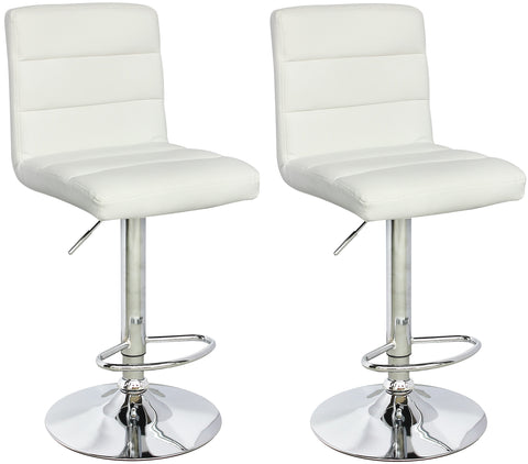 ViscoLogic SERENITY 23 to 31 inch adjustable height swivel bar stools (Set of 2)
