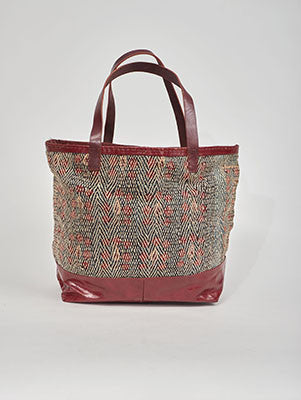 Jawaja leather bag with Banjara embroidery