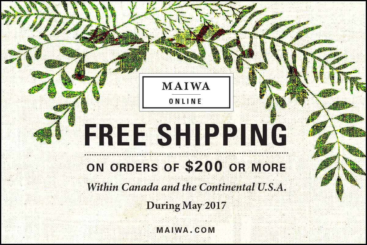 Free Shipping on Orders over $200 - May 2017