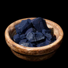 natural indigo in rock form
