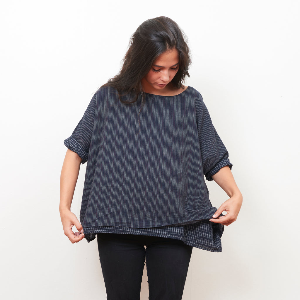 Aravali Top - Cotton - Midnight Stripe