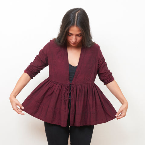Tanda Jacket - Cotton - Burgundy