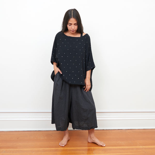 Narlai Pant - Black Pinstripe - Cotton