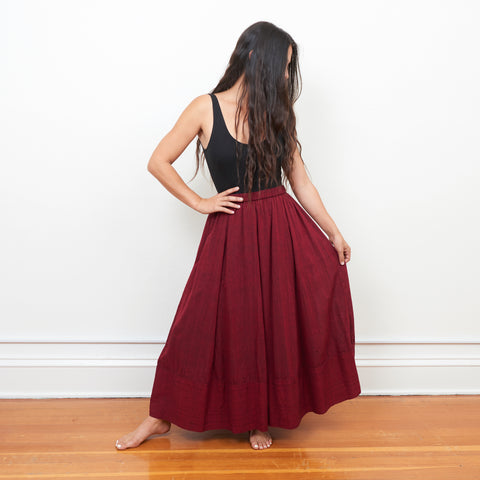 Tulsi Skirt - Ruby - Cotton