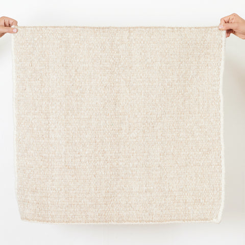 Wool Jawaja Carpet - Small - Sand
