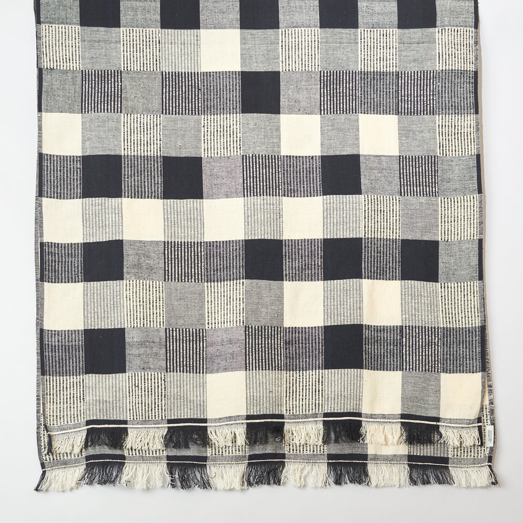 Womenweave - Organic Khadi Cotton - White Squares