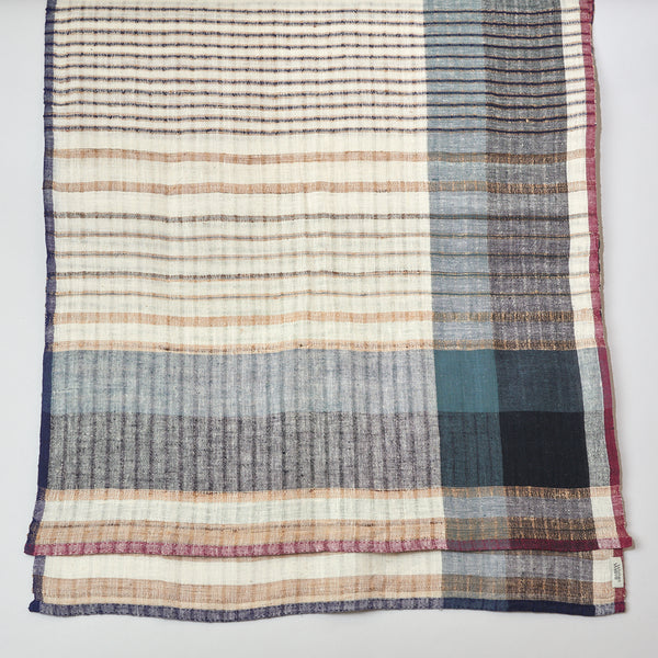 Womenweave - Organic Cotton & Wild Tussar Silk Scarf - Fresh