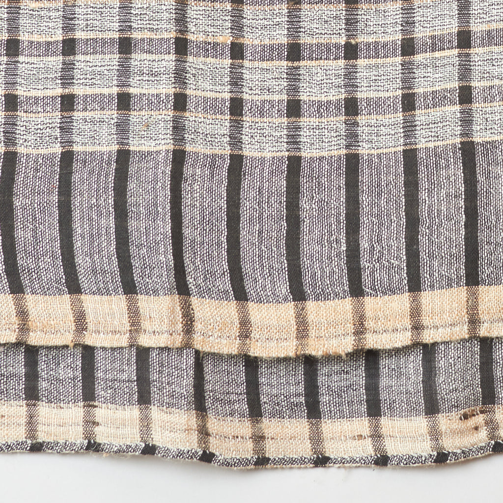 Womenweave Organic Cotton & Wild Tussar Silk Scarf - Black Check