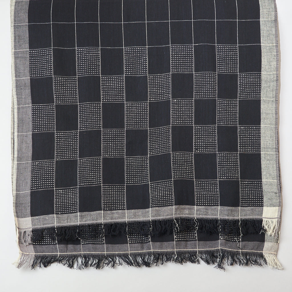 Womenweave - Organic Khadi Cotton - Black Squares