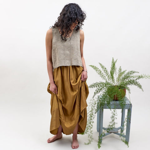 Tulsi Skirt - Naturally Dyed Silk - Sienna