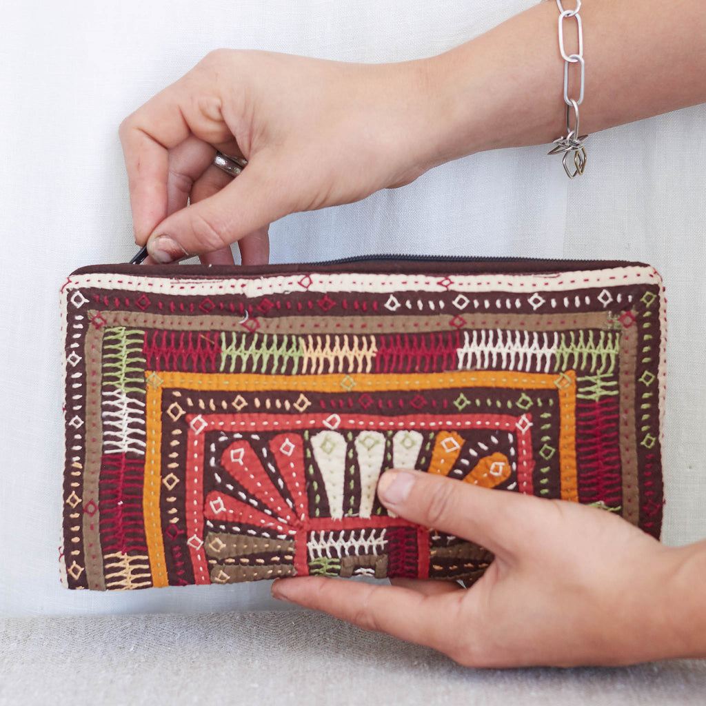 Dhebaria Embroidery Clutch - Pattern 2