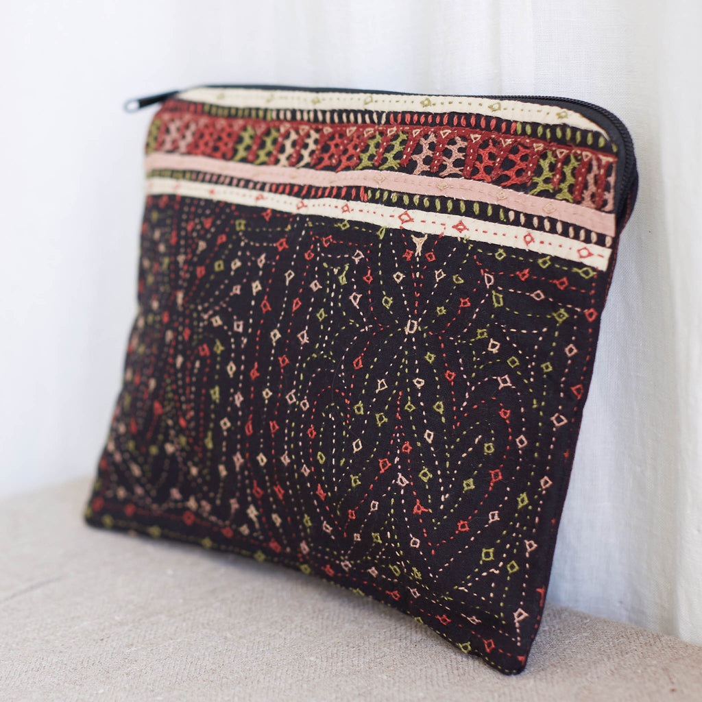 Dhebaria Embroidery - Large Pouch - Pattern 3
