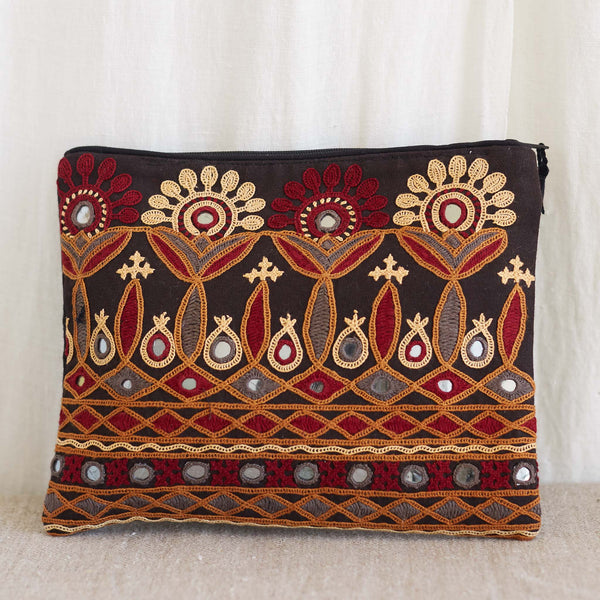 Kachchh Embroidery - Large Pouch - Pattern 2