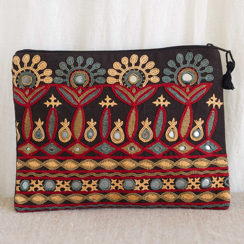 Kachchh Embroidery - Large Pouch - Pattern 3