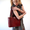 Leather Walkabout Bag Medium - Red