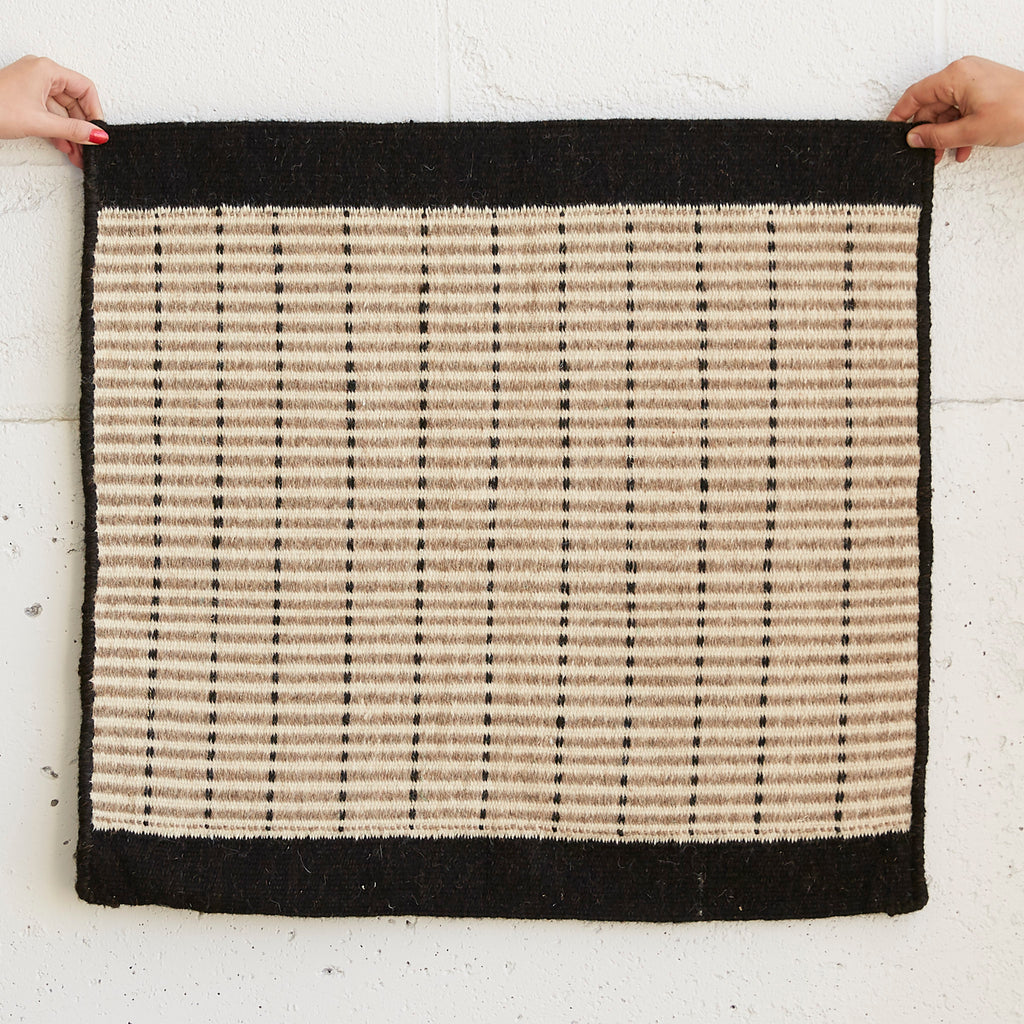 Wool Jawaja Carpet - Small - Grid