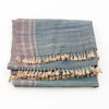 Bhujodi Naturally Dyed Shawl - Indigo Sea - Tussar Silk & Khadi Cotton