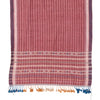 Bhujodi Naturally Dyed Shawl - Burgundy Stripe - Eri Silk & Khadi Cotton