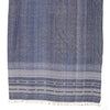 Bhujodi Naturally Dyed Shawl - Wide Indigo Ocean - Eri Silk & Khadi Cotton