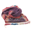 Bhujodi Naturally Dyed Scarf - Wine Silk - Eri Silk & Khadi Cotton