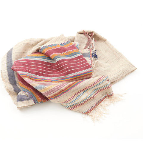 Bhujodi Naturally Dyed Shawl - Rann of Kachchh - Eri Silk & Khadi Cotton