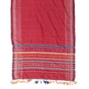 Bhujodi Naturally Dyed Shawl - Red Silk - Silk