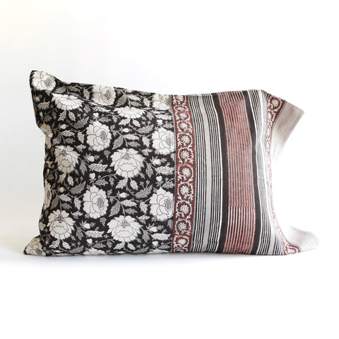 Organic Cotton Pillow Case - Dabu Floral