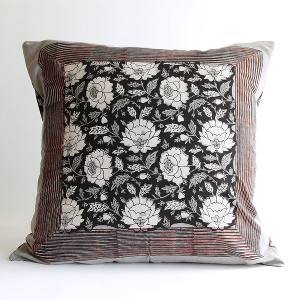 Organic Cotton Cushion Cover - Dabu Floral